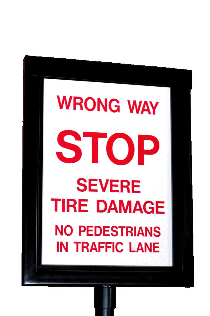 Traffic Spike Warning Signs